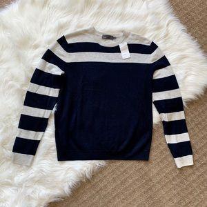 Vince Men's Vince Heathered Linen Striped Sweater!